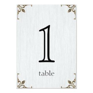 Aantal van de Lijst van het Jubileum van de Klok 12,7x17,8 Uitnodiging Kaart
