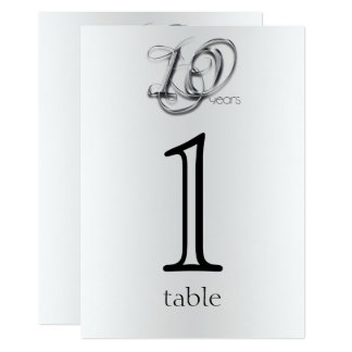 Aantal van de Lijst van het Jubileum van het fancy 12,7x17,8 Uitnodiging Kaart