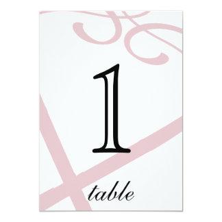 Aantal van de Lijst van het Jubileum van het Hart 12,7x17,8 Uitnodiging Kaart