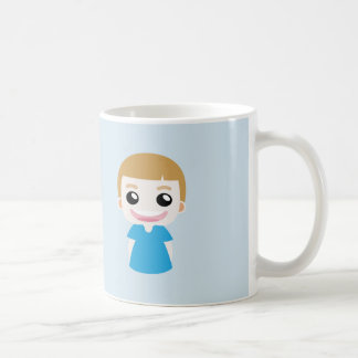 """Aaron un enfant drôle disant """"je suis heureux """" mug blanc"""