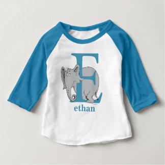 ABC de Dr. Seuss's : Lettre E - Le bleu | ajoutent T-shirt Pour Bébé