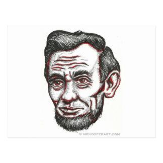 Abe honnête carte postale