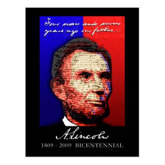 Abe Lincoln - bicentenaire Carte Postale