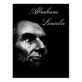 Abe Lincoln - blanc élégant sur le noir Carte Postale