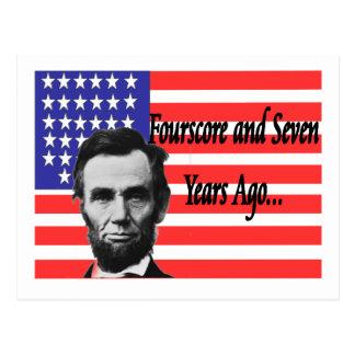 """Abe Lincoln """"quatre-vingt et il y a sept ans """" Carte Postale"""
