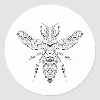 abeille de beauté sticker rond