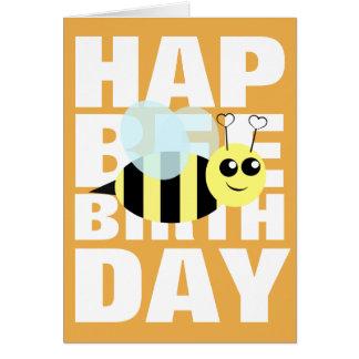 Abeille de joyeux anniversaire carte de vœux