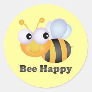 Découvrez la collection d'autocollants Be Happy et personnalisez-les avec votre texte ou vos designs