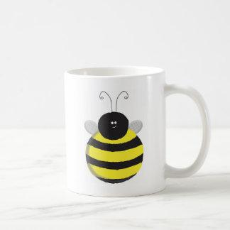 Abeille mignonne potelée heureuse d'abeille mug
