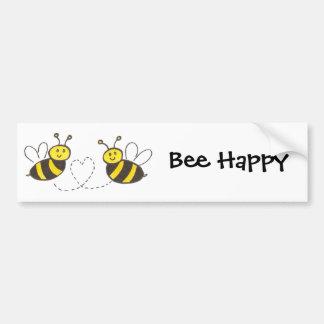 Abeilles de miel avec l'adhésif pour pare-chocs autocollant de voiture
