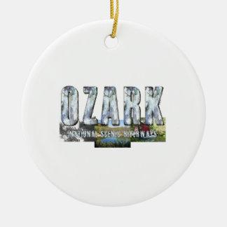 ABH Ozark Ornement Rond En Céramique