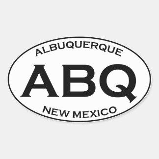 ABQ - Albuquerque New Mexico Ovale Sticker