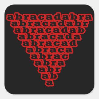 Abracadabra inversé de triangle sticker carré