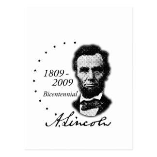 Abraham Lincoln (Abe) bicentenaire Carte Postale