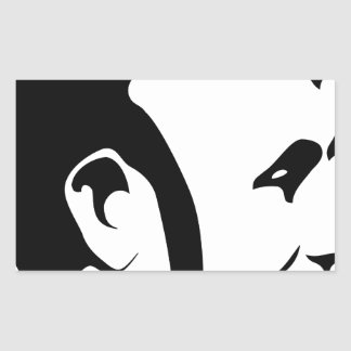 Abraham Lincoln Sticker Rectangulaire