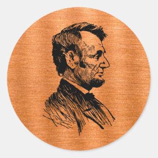 Abraham Lincoln Sticker Rond