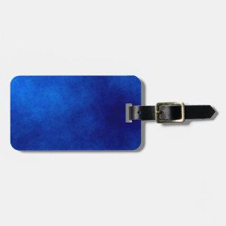 Abrégé sur aquarelle de bleu royal, étiquette de étiquette à bagage