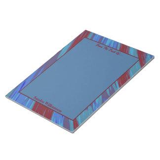 Abrégé sur bruissement de couleur de bleu rouge bloc-note