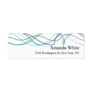 Abrégé sur élégant blanc bleu minimaliste moderne étiquettes d'adresse retour