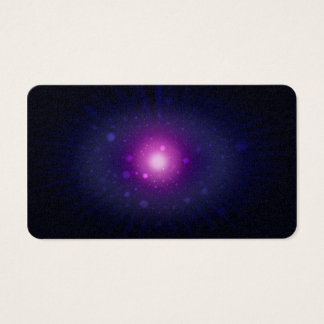Abrégé sur pourpre bleu étoiles de galaxie de cartes de visite