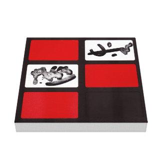 Abrégé sur rouge #3 noir d'impression de toile toiles
