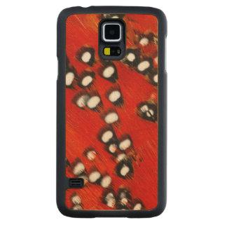 Abrégé sur rouge plume de Tragopan Coque En Érable Galaxy S5 Case