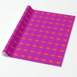 Abrégé sur rouge-rose lumineux fractale papier cadeau