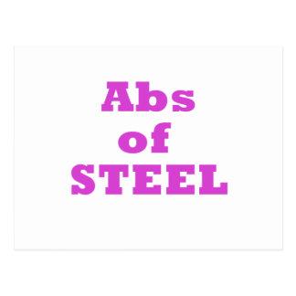ABS d'acier Carte Postale