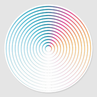 Abstract Circle Sticker