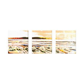 Abstract de drukart. van het Strand van het Canvas Afdruk