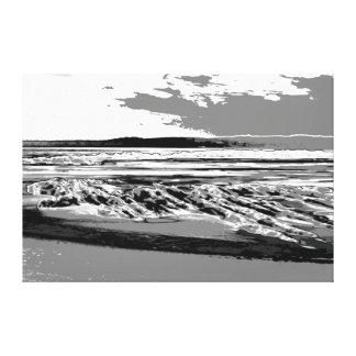 Abstract de drukart. van het Strand van het Canvas Afdrukken
