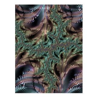 Abstract fractal and shapes pat. Fractal sorte Carte Postale