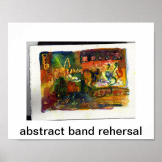 abstracte bandrepetitie poster