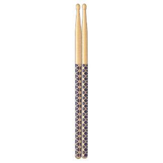 Abstracte blue&whitetrommelstokken drumstokkies    0