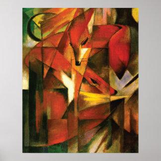 Abstracte ~ de Vos door Franz Marc Poster