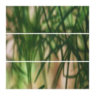 Abstracte Groene Bladeren Canvas Afdruk