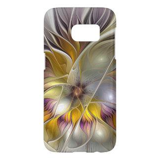 Abstracte Kleurrijke Moderne Fractal van de Bloem Samsung Galaxy S7 Hoesje