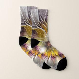 Abstracte Kleurrijke Moderne Fractal van de Bloem Sokken