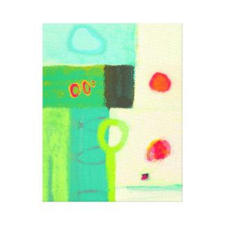 Abstracte koude de lenteochtend canvas afdrukken