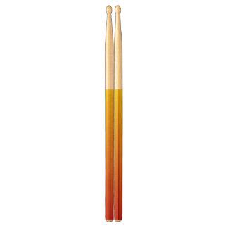 Abstracte red&yellowtrommelstokken drumstokkies    0