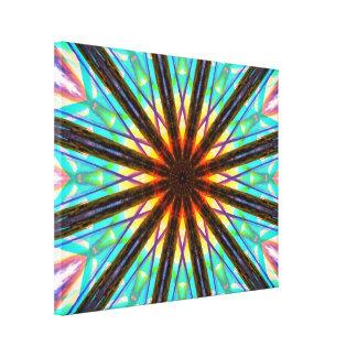Abstracte Ster Canvas Afdrukken