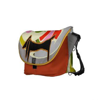 Abstracte Tekkel Courier Bag