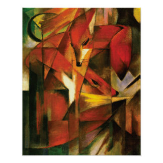 ~ abstrait le Fox par Franz Marc