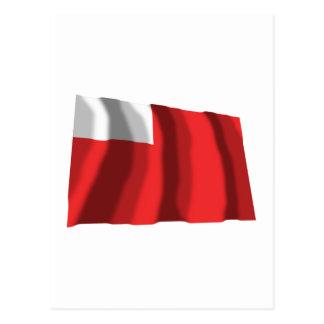 Abu Dhabi ondulant le drapeau Carte Postale