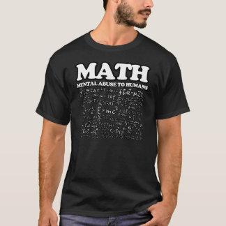 Abus mental de maths drôles à la plaisanterie de t-shirt