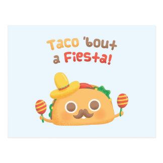Accès de taco une carte postale mignonne d'humour