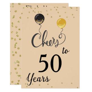 Acclamations à 50 ans carton d'invitation  12,7 cm x 17,78 cm