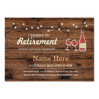 Acclamations à l'invitation en bois de vin de carton d'invitation  12,7 cm x 17,78 cm
