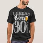 Acclamations et bières à 30 ans le T-shirt