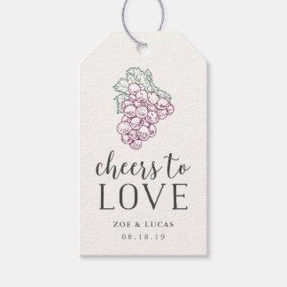 Acclamations pour aimer la faveur de mariage étiquettes-cadeau